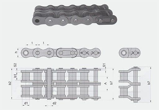 Цепи приводные роликовые ISO 606 (серии В)